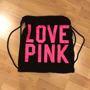 PINK DRAWSTRING BACKPACK/Bag
